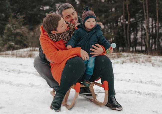 Schnee-Familienshooting